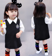 2020 new autumn baby children aged 1-2-3 4 female baby girls college style dress dress