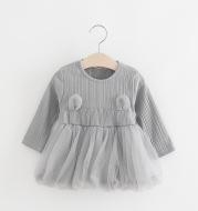On behalf of Korean children's skirt infant Princess Dress Girls new winter long sleeved gauze dress color 484