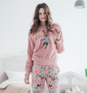 Women's pajamas thickening boutique double-faced cashmere home service