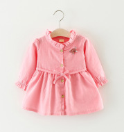 The new girl dress wholesale, infant clothing, long sleeve cute princess skirt, baby skirt on behalf of a generation