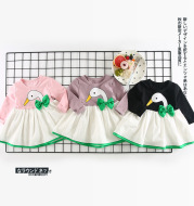 Qz7095 Enzo brother a ins baby explosion swan swan bow dress