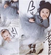 Chen mother newborn baby infant clothes autumn dream gauze skirt virgin princess dress baby son