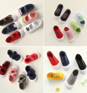 Network explosion 2020 spring new children's shoes, Korean boys and girls canvas shoes, candy color baby shoes