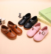 2020 new autumn boys and girls, single leather shoes, Korean granny shoes, big children's magic stickers, baby shoes manufacturers straight