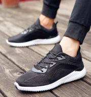 [a] double delivery autumn new men's running shoes shoes all-match low permeability trend of youth sports shoes