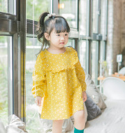 A Mu's new children's wear, baby's long sleeve princess dress, 2020 Korean Girl Dress