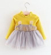 2020 girls spring and autumn dress 8 months, female baby autumn dress long 0-1-2-3 years old children's children's clothing