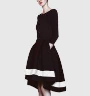 Black One-piece Dress