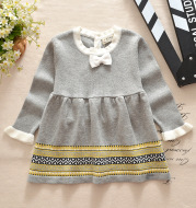 Vitoria seven star with a Harper Princess hair dress baby baby girls dress knit dress