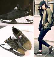 In the autumn of 2020 new Korean Harajuku leather casual shoes soled sports shoes running higher platform shoes