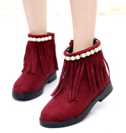Big boy 2020 winter boots baby shoes boots in Korean children shoes boots and shoes cotton tassel