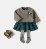 Baby autumn winter dress 2020 infant girls winter long sleeve dress children thickened princess dress clothing