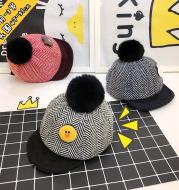 Children's hat winter, Korean animal standard children baseball cap cartoon stickers baby outdoor peaked cap thickening