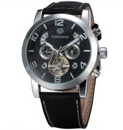 The 165 men's casual fashion Forsining fusini large dial Tourbillon automatic mechanical watches