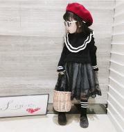 Girl's dress,Knit Dress Mesh Skirt For Baby Girl