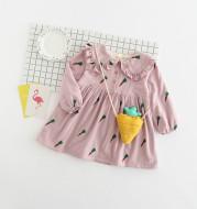 Children's wear 2021 summer and winter girls skirt, children radish long sleeve dress, baby girl and cashmere princess skirt