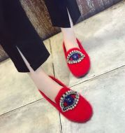 In the autumn of 2017 new students all-match shoes eyes Rhinestone Suede Flats Shoes shoes feet deep cover