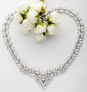 Since the moonlit night necklace set AAA Si bride luxury temperament gift jewelry manufacturers in Europe and America zircon