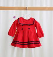IDEA2021 spring new children's Korean version of children's wear, baby dress, girl pure color princess skirt 8812