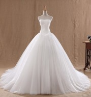 USA SIZE   The new Korean style tube top was thin and large size Qi female tailed princess bride wedding wedding dress