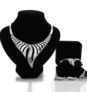 Europe and the United States selling bride jewelry set four piece necklace earrings wholesale manufacturers customized alloy accessories