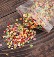 Nail Sticker Explosion Nail Art Jewelry Soft Fruit Piece Nail Sticker Mobile Phone Jewelry Accessories