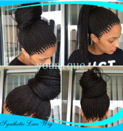 2-strand braids front lace wig