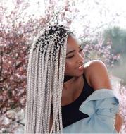 African foreign trade chemical fiber big braid three fine braided wig