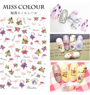 Foreign trade of ultra-thin tropical bird animal Manicure gummed stickers nail stickers Manicure adornment R117-124 explosion models