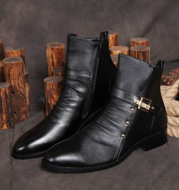 Lining Ankle Leather Boots Retro Shoes For Men