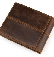 J.M.D October new wallet short real leather purse fashion splice design 8064