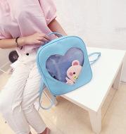 Korean cute students children's soft sister Macarons retro color transparent backpack Backpack Bag love Harajuku