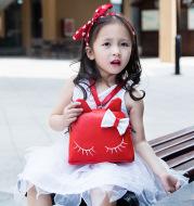 Number of children SATCHEL BAG BAG cute cartoon Baby Princess Girls Kitty backpack child Xiekua package