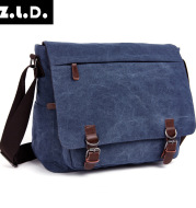 Men's single shoulder spans outdoor casual canvas bag Korean version of Korean version of single shoulder computer bag wholesale