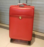 European and American fashion leather solid high-end atmosphere zipper manufacturers selling men travel trolley suitcase