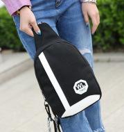 Men's canvas bag chest Korean Satchel Bag tide men and women casual outdoor sports Bag Satchel Purse