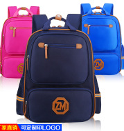Book bag logo custom-made English children's children's double shoulder bag schoolbag for boys and girls to reduce their backpacks