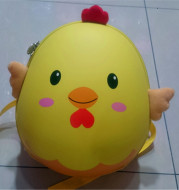 New EVA cartoon 3D chicken shaped egg shell nursery school double shoulder backpack manufacturer direct selling