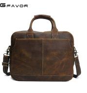 Classical burst retro Crazy Horse male bag laptop computer bag bag handbag manufacturers selling leather briefcase