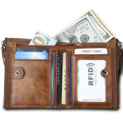 Amazon explosion men crazy horse leather wallet wallet anti-theft brush anti RFID male leather wallet
