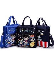 2021 new style bag college wind children's schoolbag multi function double shoulder bag and shoulder slant Handbag Bag