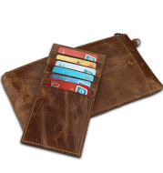 Hot explosion of Crazy Horse anti-theft brush RFID wallet hand bag color multifunction men hand