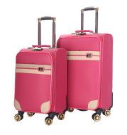 Custom pure color rod box waterproof PU Retro Leather Case business men's suitcase 20 inch 24 inch wheel boarding