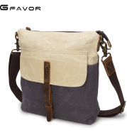 The source point man wax canvas bag bag retro canvas with leather satchel boy waterproof cloth