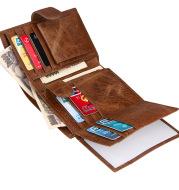 Amazon hot sale head layer cowhide men wallet men wallet real leather real leather bag