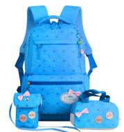 New Korean children's schoolbag schoolbag, schoolbag, schoolbag, lovely girl, three pieces of 3-4-5 grade Backpack