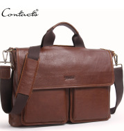 Factory source leather men business briefcase leisure single shoulder bag handbag handbag