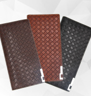Newthin long men wallet manufacturers direct sales of large capacity multi-functional business woven PU Wallet
