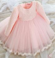 Children dress winter flower girl dress Tutu Princess Dress Girls Long Sleeve wedding dress dress