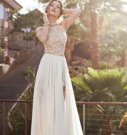 Lace Chiffon Evening Gown